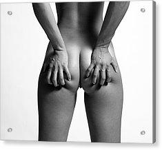 Grab Acrylic Print by Michael Carroll