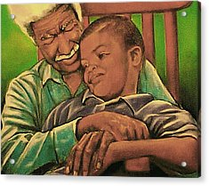 Grandpa And Me Acrylic Print by Curtis James
