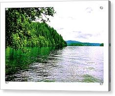 Green Lake Acrylic Print by J D Banks
