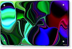 Green Nite Distortions 4 Acrylic Print