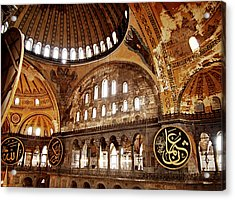 Hagia Sophia Gallery Acrylic Print by Guillaume Rodrigue