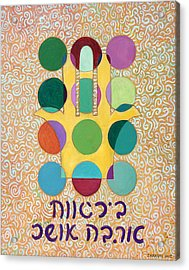 Hamsa Blessing Acrylic Print by John Keaton