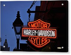 Harley Davidson New Orleans Acrylic Print by Bill Cannon