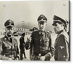 Heindrich Himmler Leftand Heydrich Acrylic Print by Everett