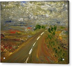 Acrylic Print featuring the painting Hit The Road by Evelina Popilian