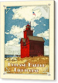 Holland Harbor Lighthouse Acrylic Print by Antoinette Houtman