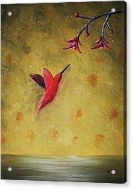 Acrylic Print featuring the painting Hummingbird by Edwin Alverio