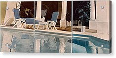 Ibiza Pool Acrylic Print by Geoff Greene