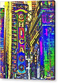Iconic Chicago Acrylic Print by Leslie Revels Andrews
