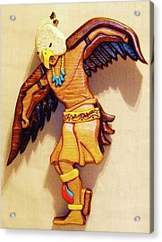 Intarsia Eagle Dancer Acrylic Print by Russell Ellingsworth