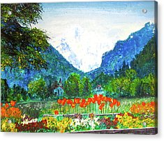 Acrylic Print featuring the painting Interlaken by Beth Saffer