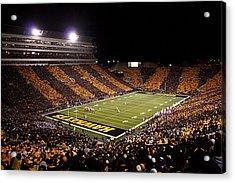 Iowa Black And Gold Stripes At Kinnick Stadium Acrylic Print