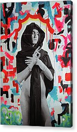 Iris Of My Eye... Acrylic Print by Steven W Rand