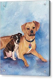Jaz And Lily Acrylic Print by Brenda Thour