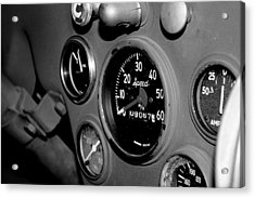 Jeep Gauges Acrylic Print by Gina  Zhidov