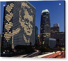 Joe Paterno City Scape Acrylic Print by Paul Van Scott