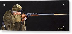 Acrylic Print featuring the painting Johnny Reb by Karen Wilson