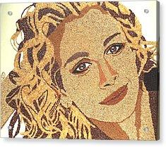 Julia Roberts Acrylic Print by Kovats Daniela