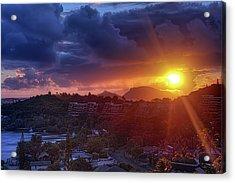 Kaneohe Sunrise Acrylic Print by Dan McManus