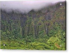 Ko'olau Waterfalls Acrylic Print by Dan McManus