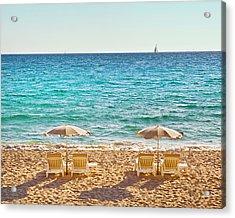 La Croisette Beach, Cannes, Cote D'azur, France Acrylic Print