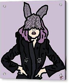 Lady Gaga Acrylic Print by Jera Sky
