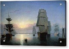 Lane: Boston Harbor Acrylic Print by Granger