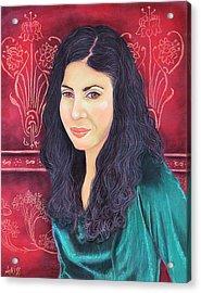 Lauren In Green Acrylic Print
