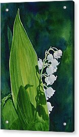 Acrylic Print featuring the painting Lily Of The Valley by Margit Sampogna