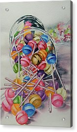 Lollypops Acrylic Print