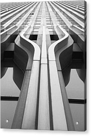 Look Up A Twin Tower Acrylic Print by Darcy Michaelchuk