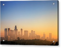 Los Angeles Sunset Acrylic Print by Eric Lo