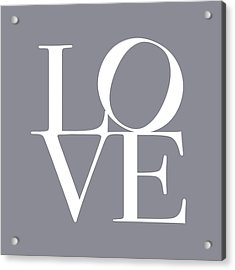 Love In Grey Acrylic Print