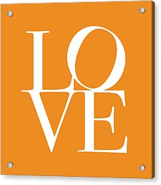 Love In Orange Acrylic Print by Michael Tompsett