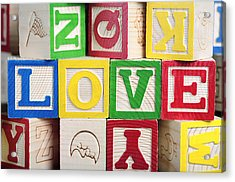 Love Acrylic Print by Neil Overy