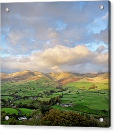 Lune Valley And Howgill Fells Acrylic Print by David Barrett