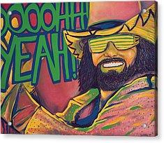 Macho Man Acrylic Print by Derek Donnelly