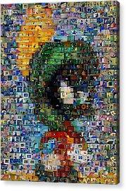 Marvin The Martian Mosaic Acrylic Print by Paul Van Scott