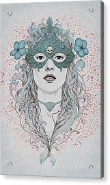 Masked Acrylic Print by Diego Fernandez