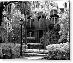 Mercer Williams House Acrylic Print by Jeff Holbrook