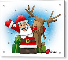 Merry Christmas Acrylic Print by Denys Golemenkov