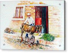 Mexico-el Burrito Acrylic Print by Estela Robles
