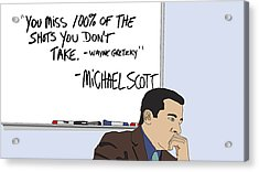 Michael Scott From The Office Acrylic Print by Tomas Raul Calvo Sanchez