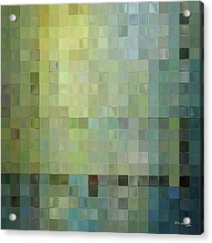 Modern Tile Art One Modern Decor Collection Acrylic Print by Mark Lawrence
