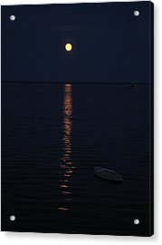 Moon At Province Town Acrylic Print by Oscar Rodriguez