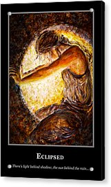 Acrylic Print featuring the painting Motivational Hope by Nik Helbig
