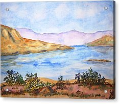 Mulshi Lake Acrylic Print by Monika Deo