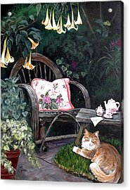 My Secret Garden Acrylic Print by Mary-Lee Sanders