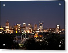Nashville Cityscape 1 Acrylic Print by Douglas Barnett