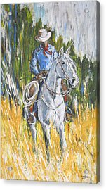 Acrylic Print featuring the painting No Looking Back by Debora Cardaci
